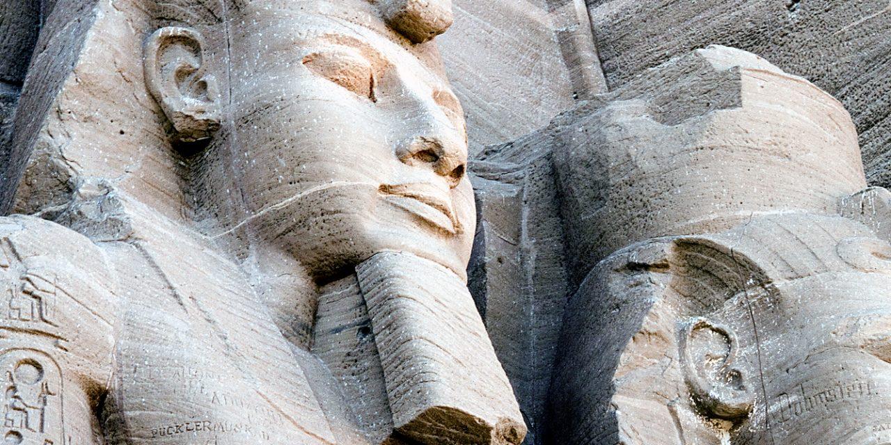 Ramses ll and Ramses ll at Abu Simbel, Egypt