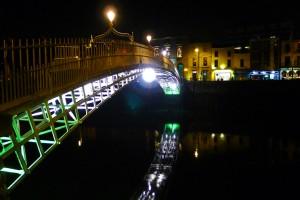 Dublin, Ireland, Ha'penny Bridge, Halloween