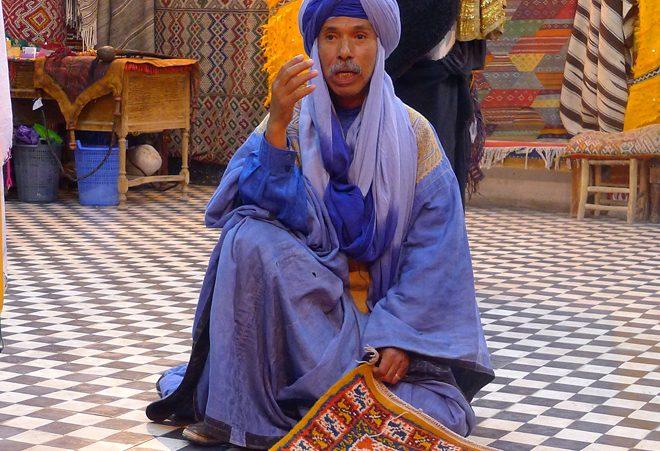 Tuareg Carpet Seller, Southern Morocco