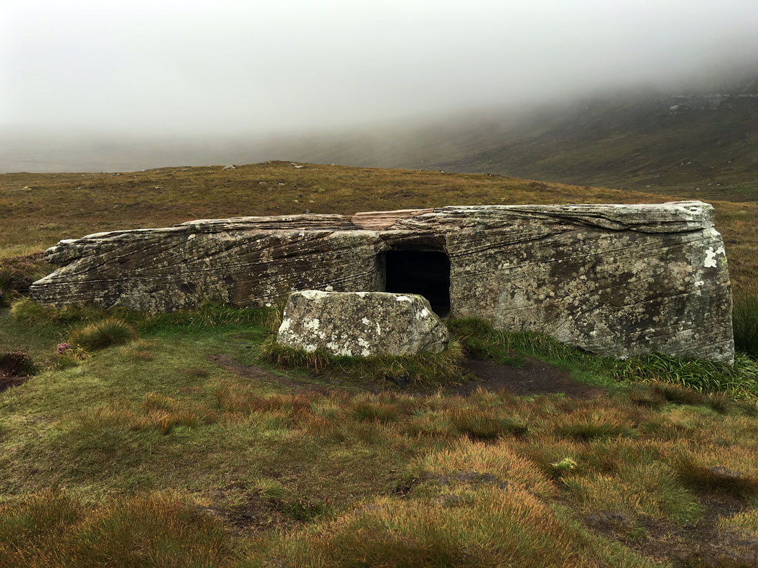 Dwarfie Stane, bad weather, photography, monument, Hoy, Orkney, Scotland