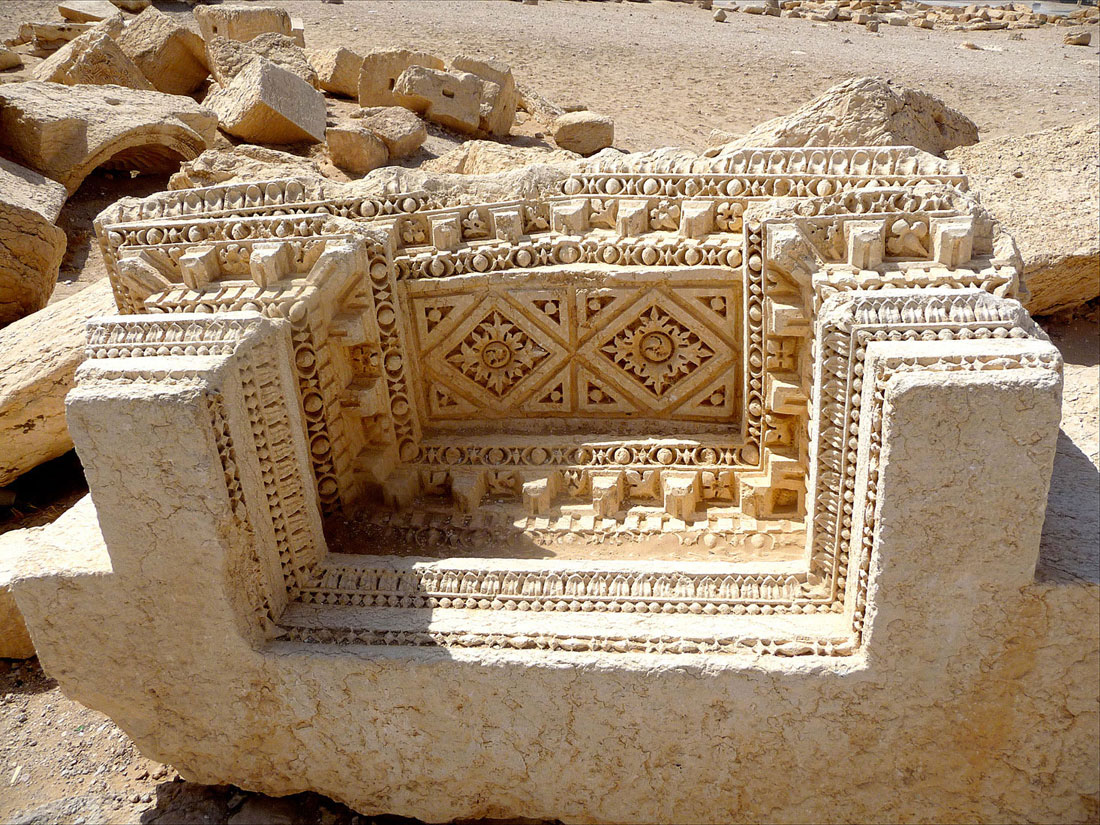 Monuments, Syria, Reconstruction, Palmyra. Temple of Baal