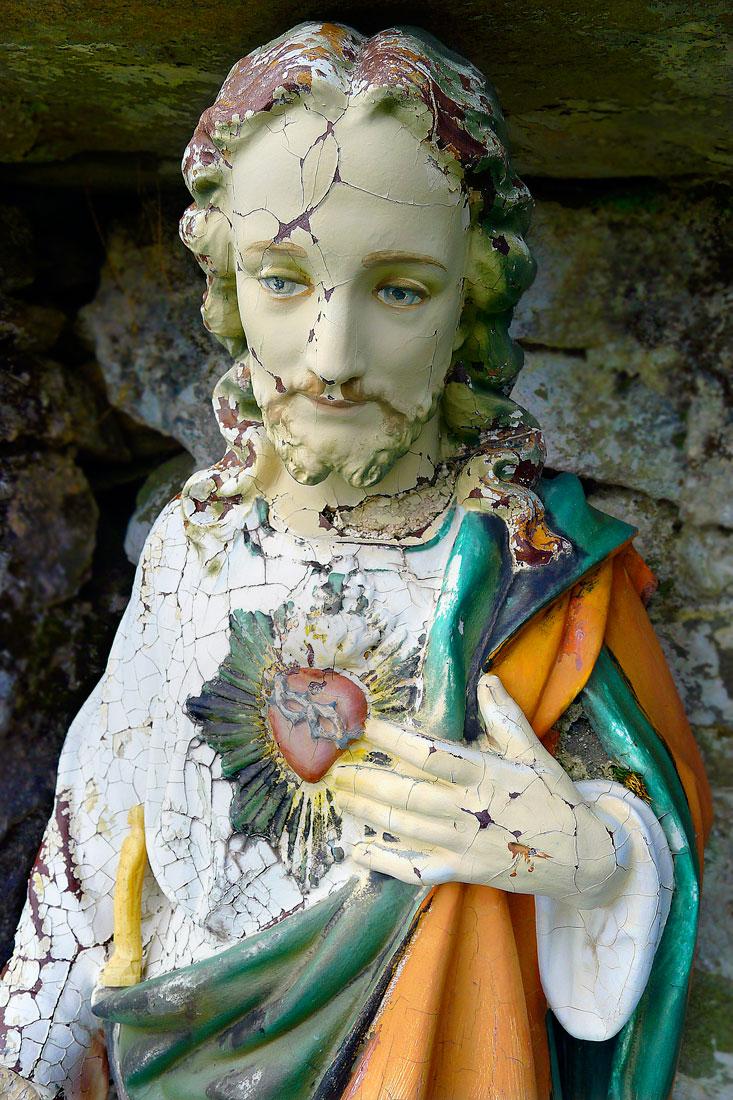 Sad Jesus, Holy Well, Deserted Village, the Great Hunger, Achill, Mayo, Ireland