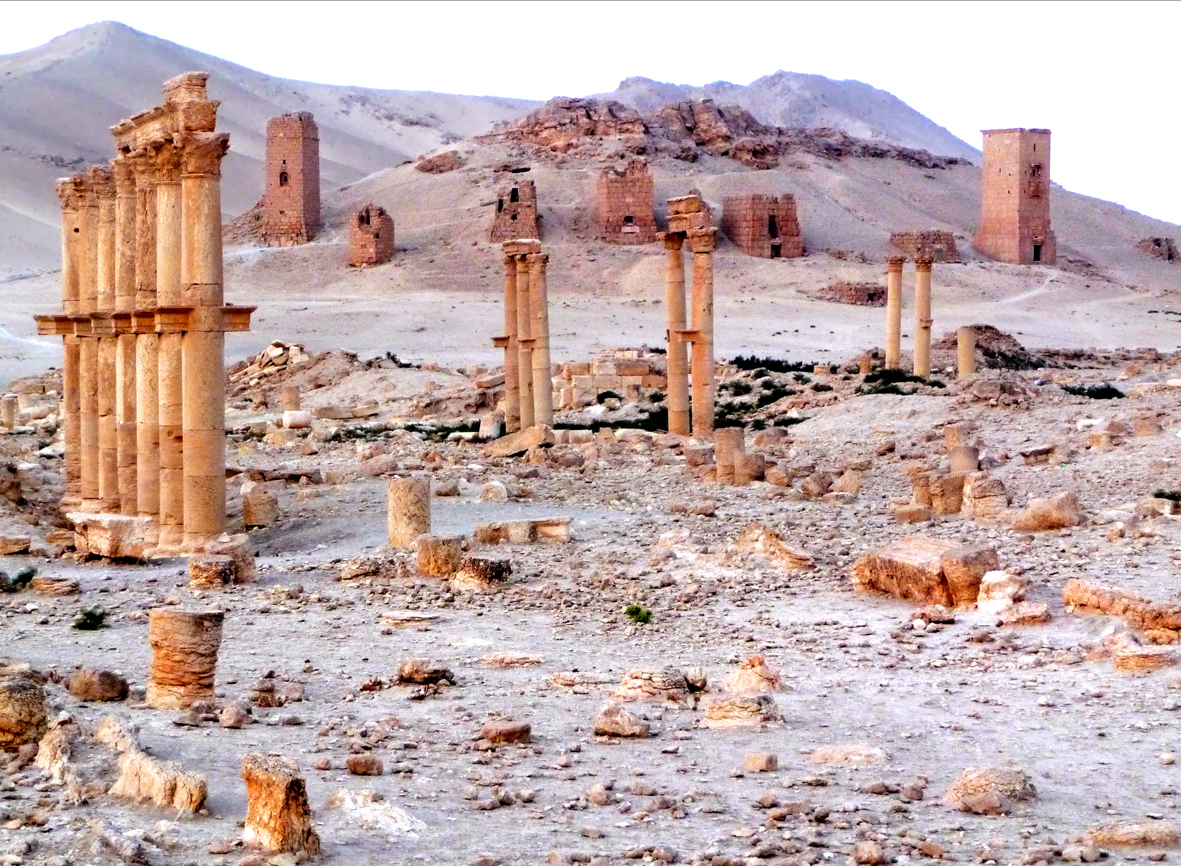 Palmyra funerary towers ©Annie Wright Photography