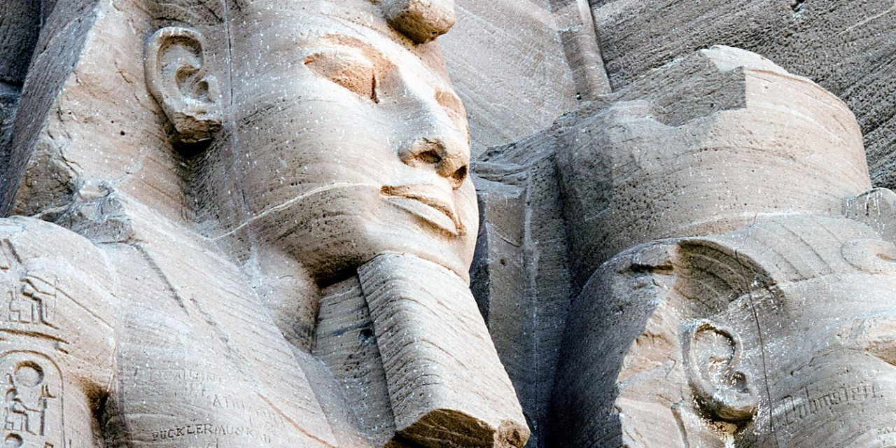 Ramses ll and Ramses ll at Abu Simbel, Egypt