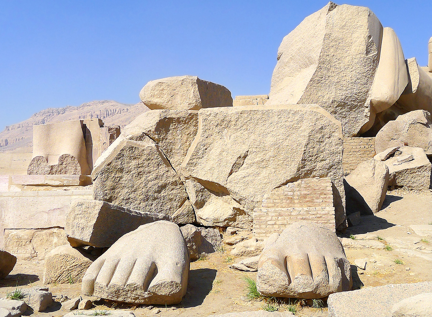 The Feet of the Colossos of Ramses II
